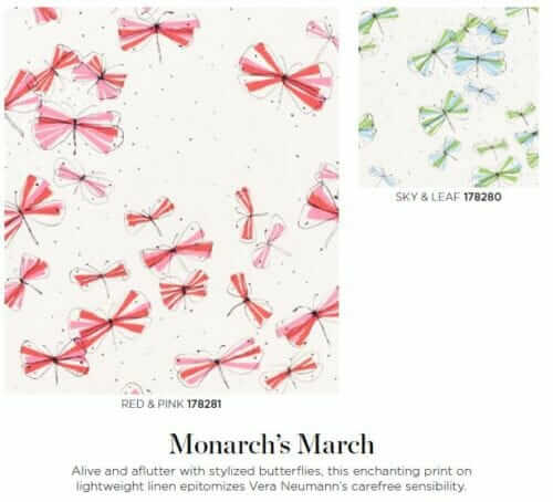vera neumann fabric monarchs march for schumacher