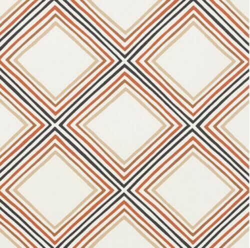 vera neumann schumacher wallpaper square dance in brown
