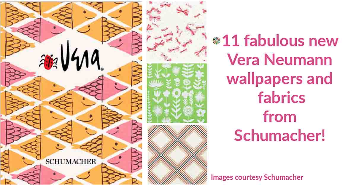 11 new vintage Vera Neumann wallpapers and fabrics for Schumacher