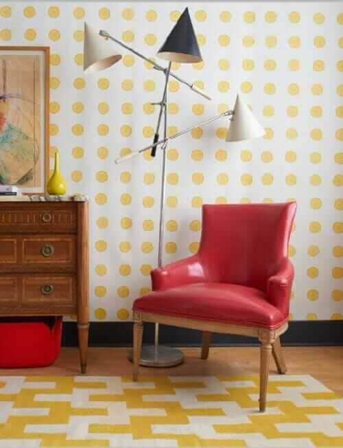 vera neumann wallpaper lemonade pattern for schumacher