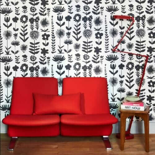 schumacher vera neumann wallpaper wild things in black