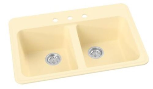 colored kitchen sink in yellow from whyte and company
