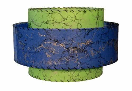 colored mid century fiberglass lamp shade