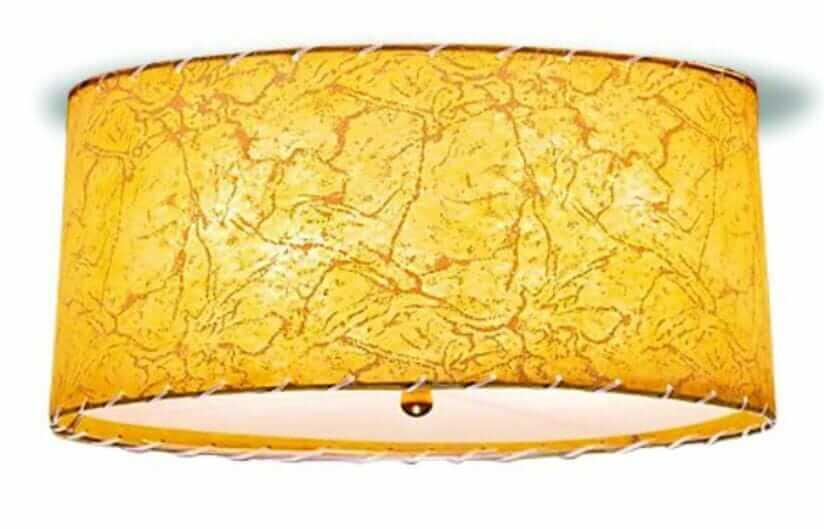 ceiling light with fiberglass shade