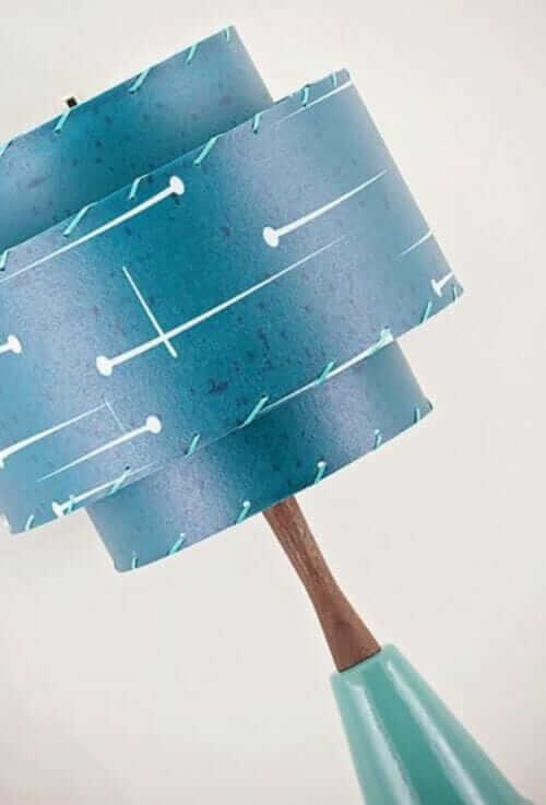 blue fiberglass lamp shade
