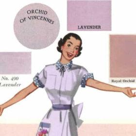 lavendar bathroom fixtures in history