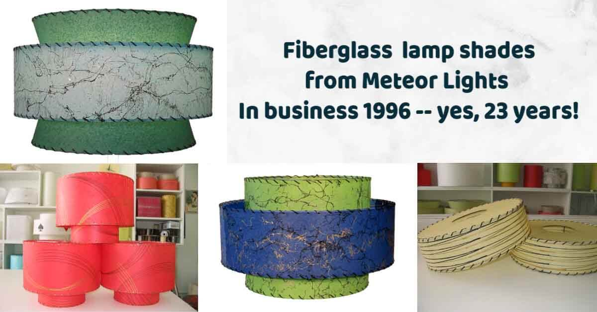 fiberglass lamp shades from meteor lights