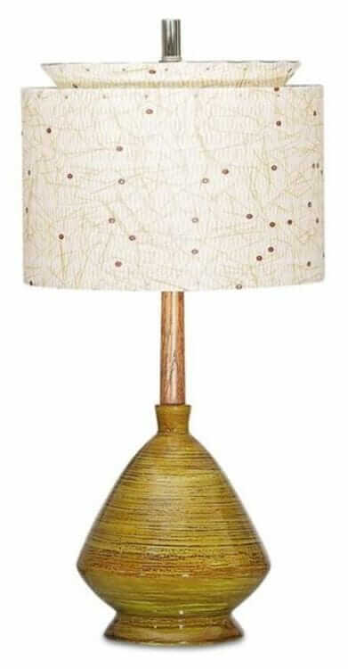 mid century lamp with fiberglass shade