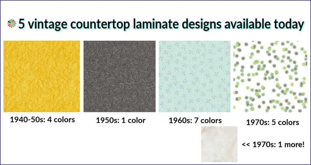 5 vintage countertop designs
