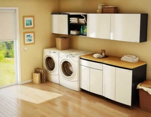 steel laundry cabinets