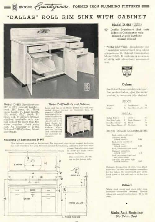 briggs kitchen sink and sink cabinet