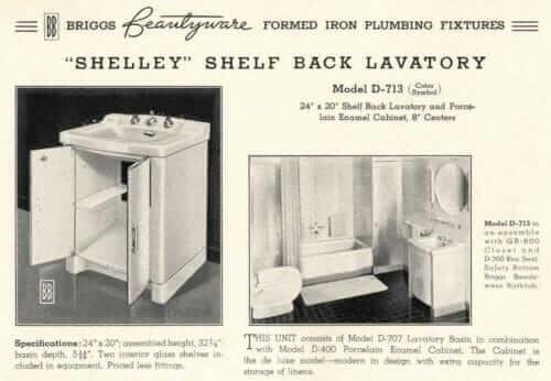 Briggs porcelain bathroom vanity