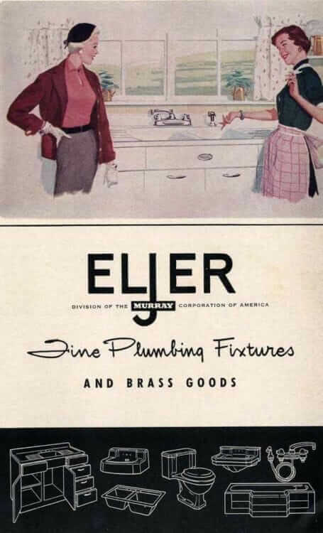 Eljer steel kitchen cabinets 1955