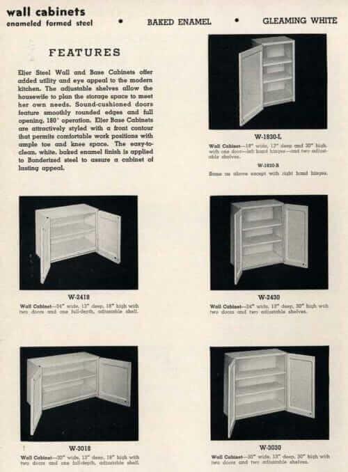 Eljer steel wall cabinets