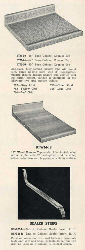 micarta counter tops 1955