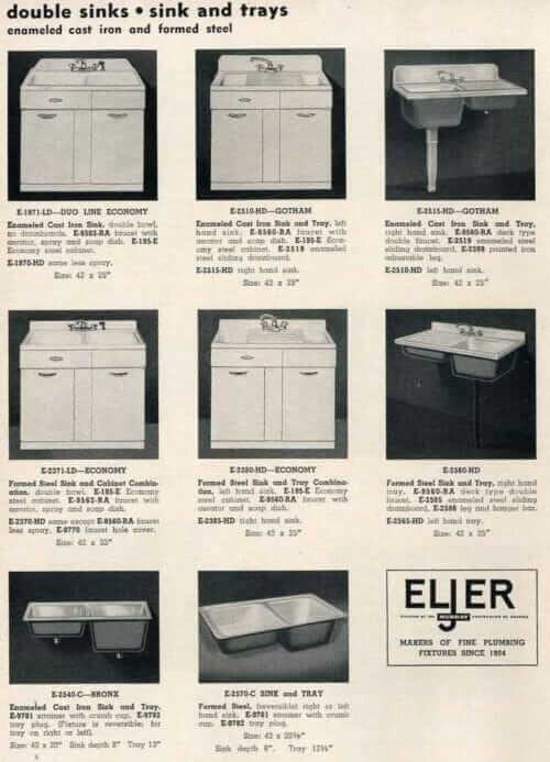 eljer sink base steel