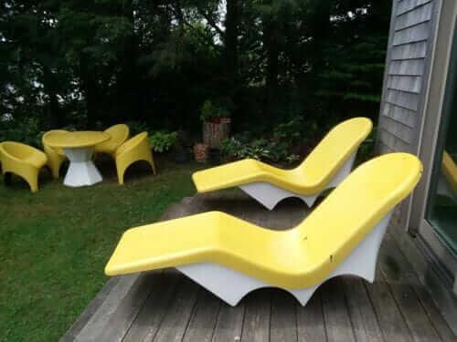 fibrella patio set