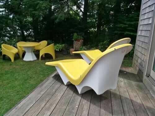 fibrella contour lounge chair and dining set