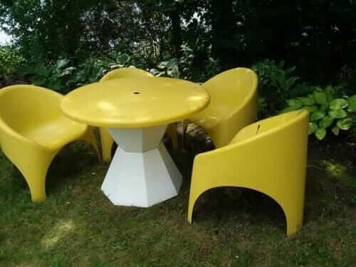 fibrella table and chair set