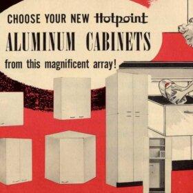 hotpoint kitchen cabinetes aluminum