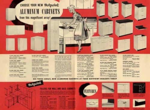 aluminum kitchen cabinets