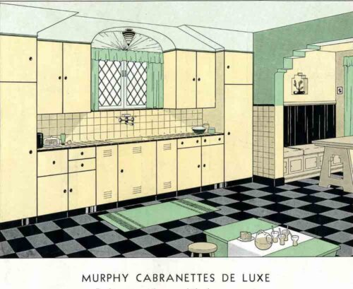 early steel kitchen cabinets murphy cabranettes