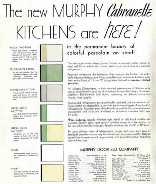 early 20th Century kitchen cabinet colors