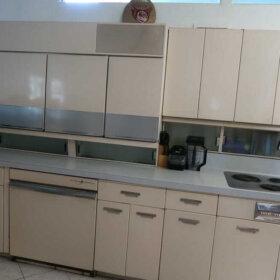 vintage GE steel kitchen cabinet set