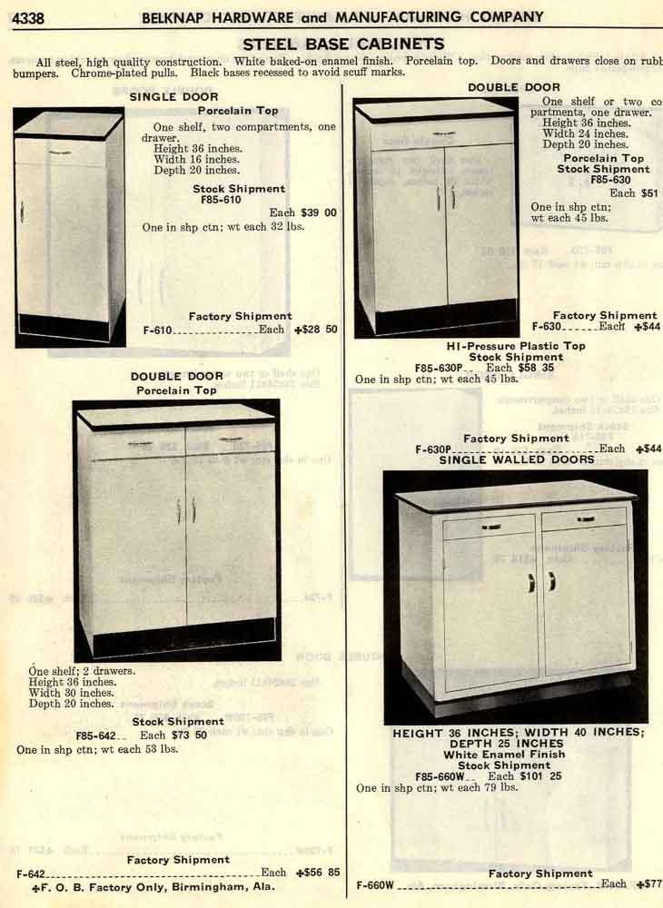 Belknap Steel Kitchen Cabinets