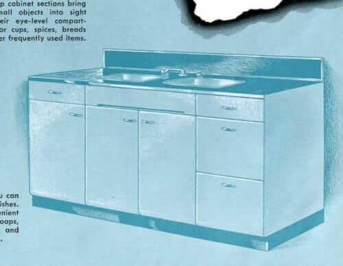 servel kitchen sink base