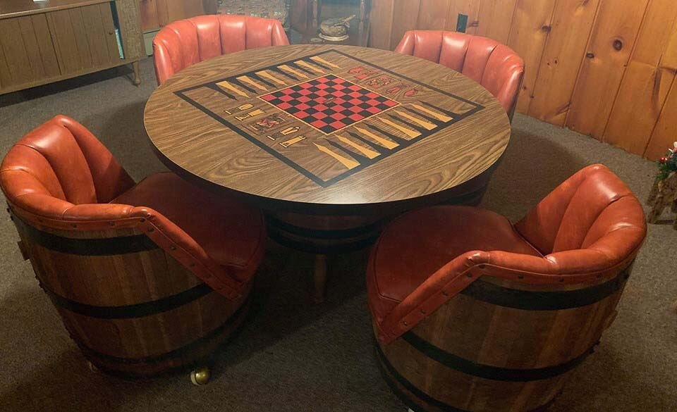The Biggest Minty Est Vintage Whiskey Barrel Furniture