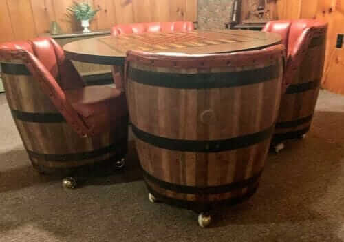 The Biggest Minty Est Vintage Whiskey Barrel Furniture