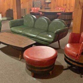 whiskey barrel living room set
