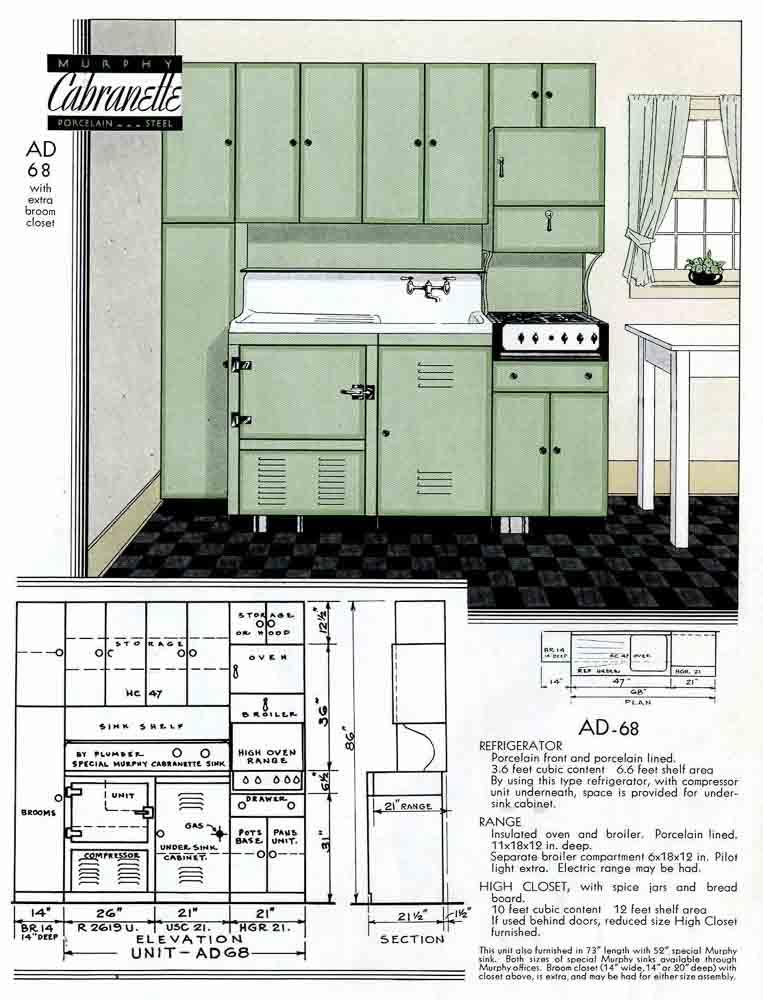 murphy steel kitchen cabinets