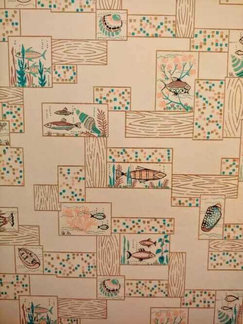 vintage wallpaper with fish