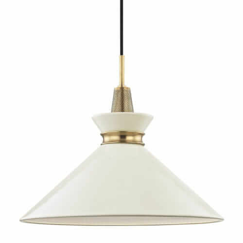 white mid century modern pendant light kiki hudson valley lighting