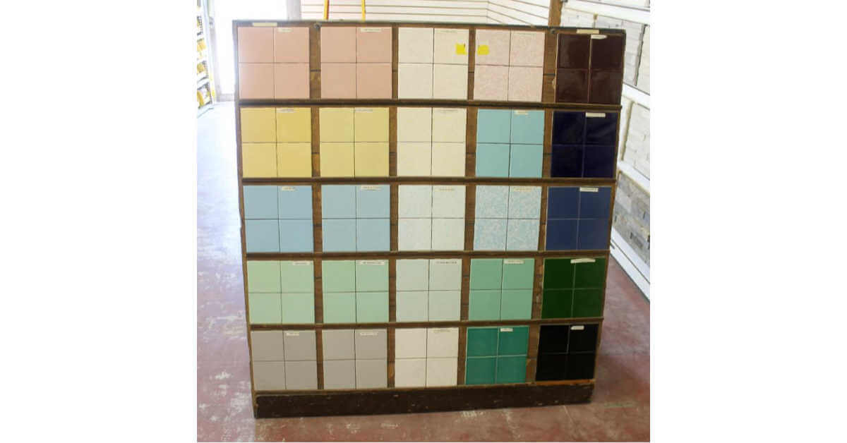 mid century tile colors from B & W