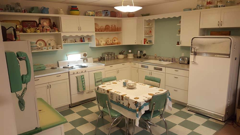 affordable mid century kitchen