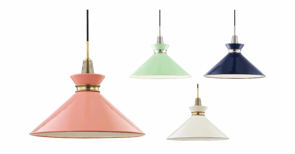 mid century modern pendant lights kiki hudson valley lighting