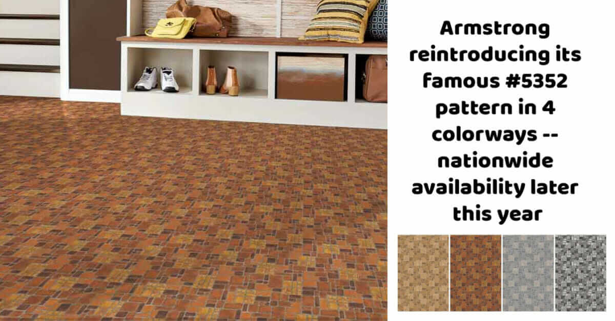 Armstrong Heritage Brick flooring pattern 5352 revived