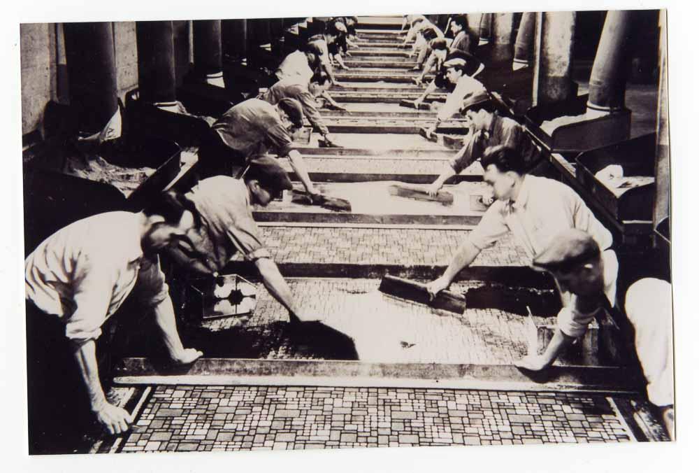 Armstrong flooring making linoleum