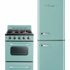 turquoise stove and refrigerator unique appliances