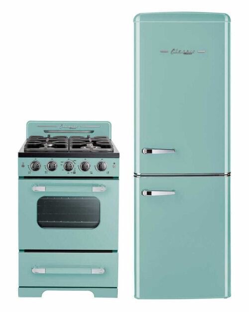 turquoise stove and refrigerator unique appliances
