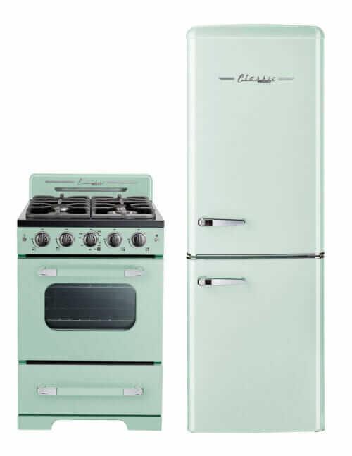 jadeite mint green retro stove and refrigerator unique appliances