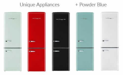 retro refrigerators unique appliances
