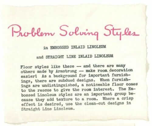 why embossed linoleum