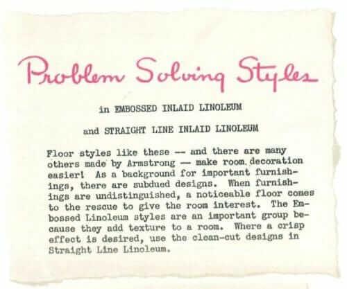 why embossed linoleum