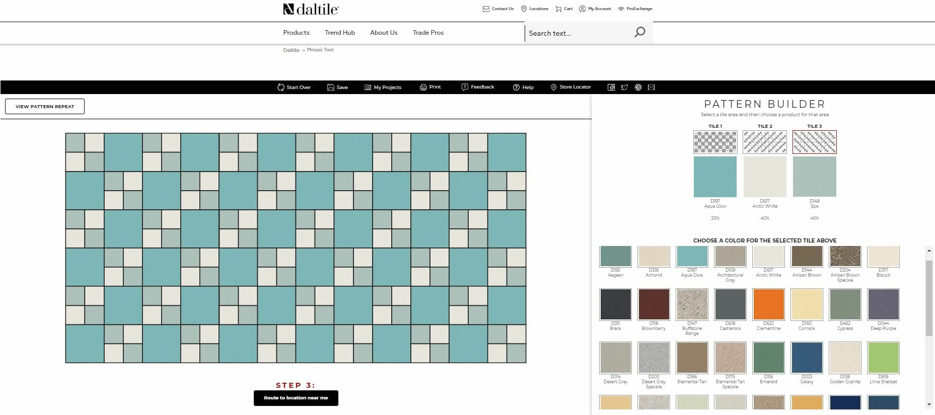 design your own mosaic tile pattern