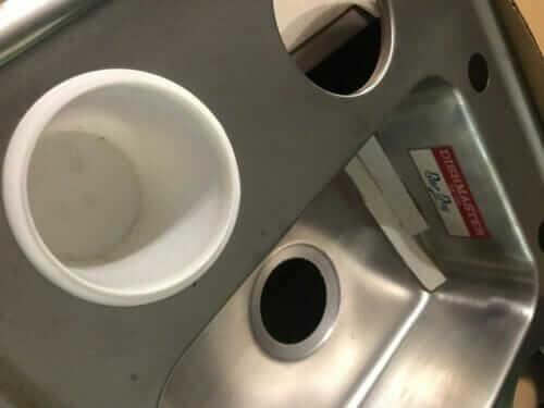 dishmaster bar boy sink cups