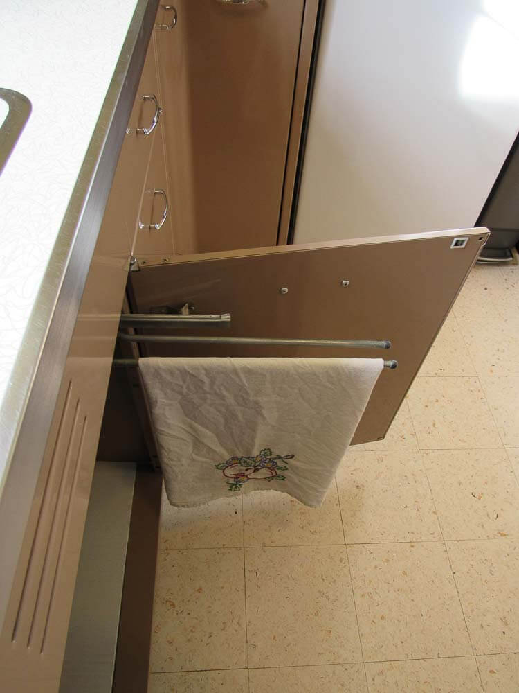 kitchen cabinet towel holder